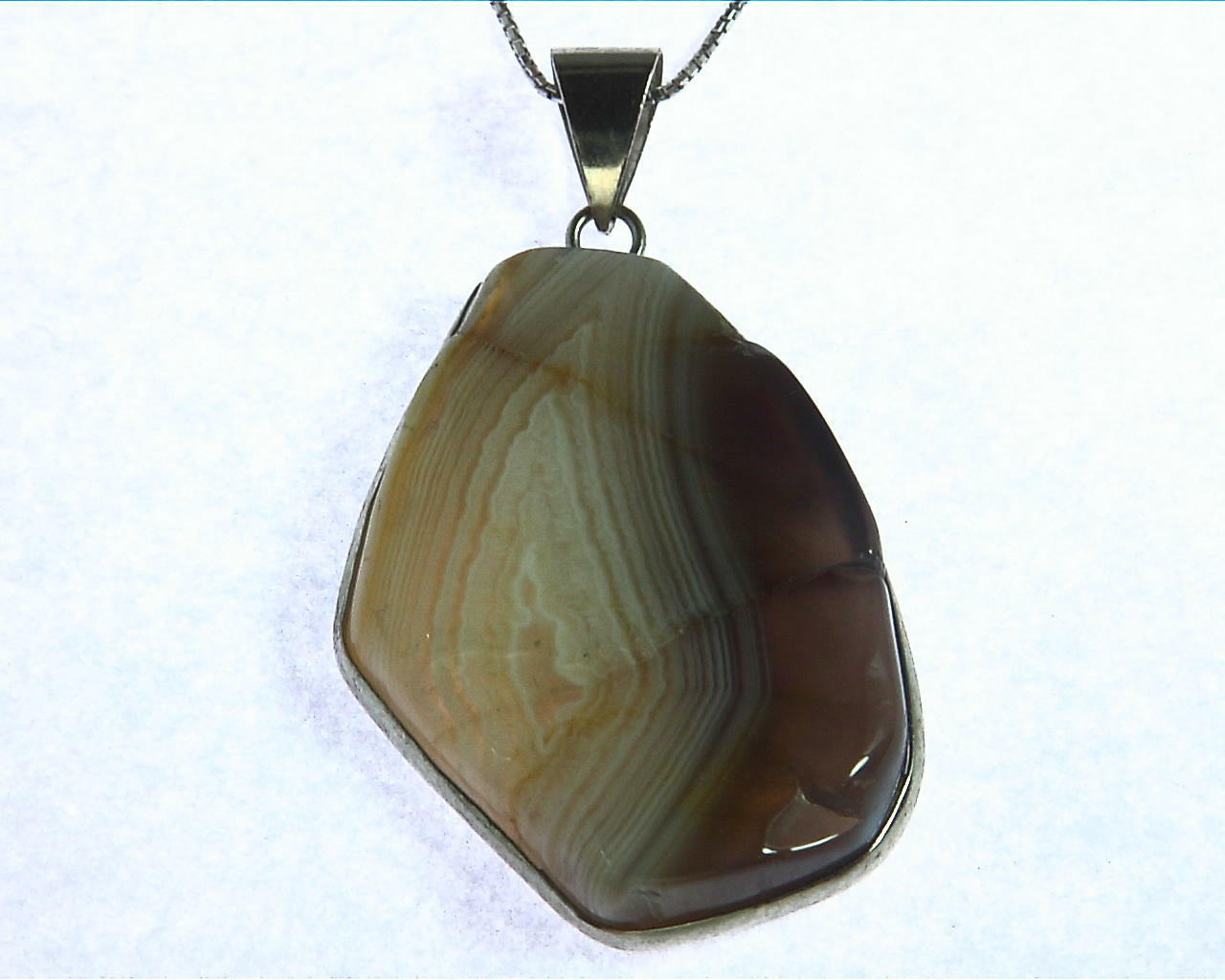 Agate Sterling Silver Pendant