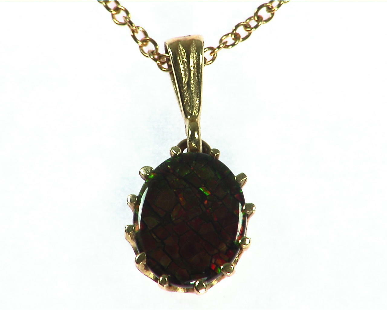 Ammolite Pendent in 14 kt Yellow Gold NFG,932 3