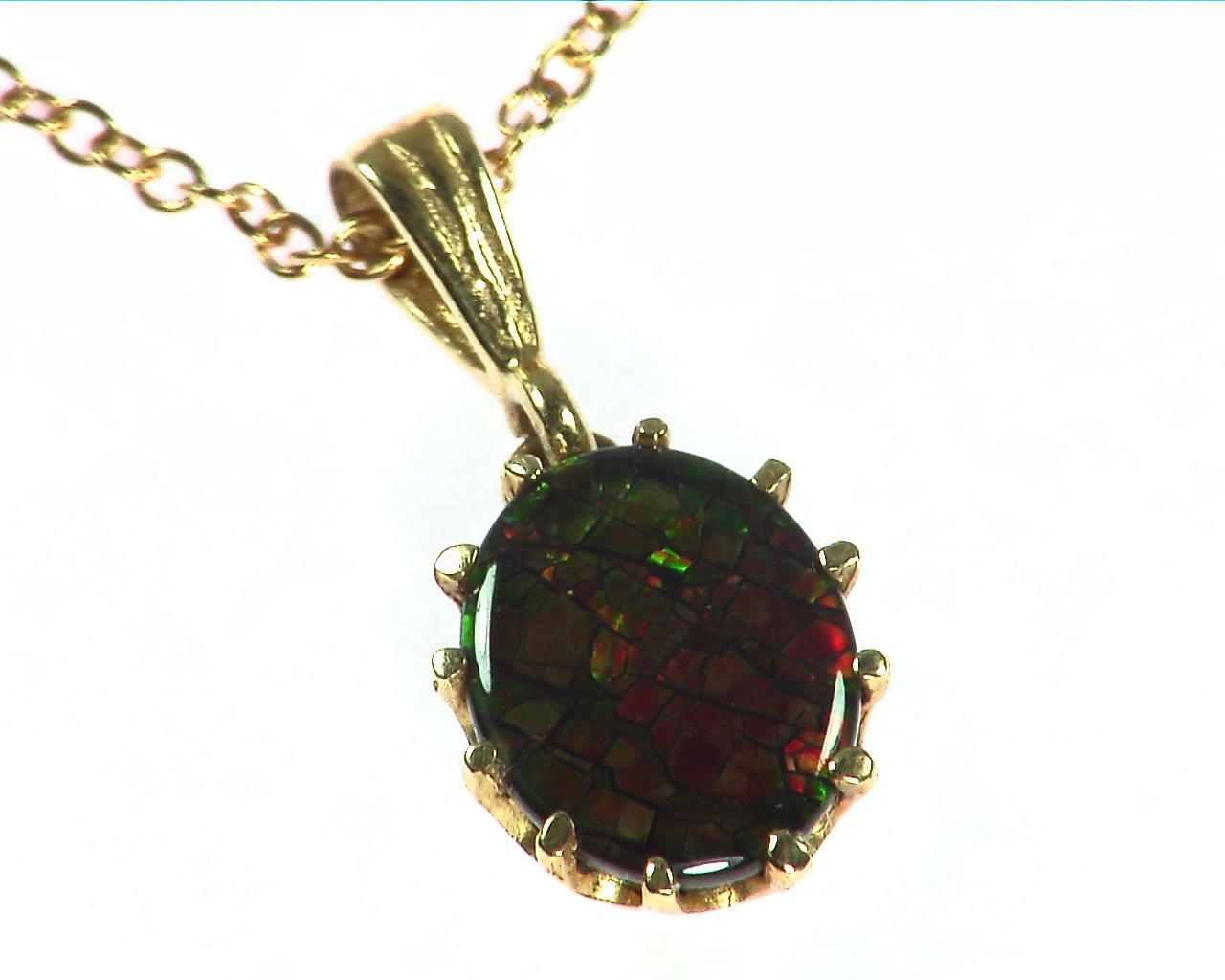 Ammolite Pendent in 14 kt Yellow Gold NFG,932 5