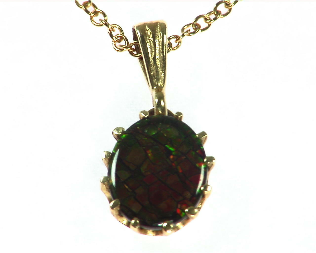 Ammolite Pendent in 14 kt Yellow Gold NFG,932 6