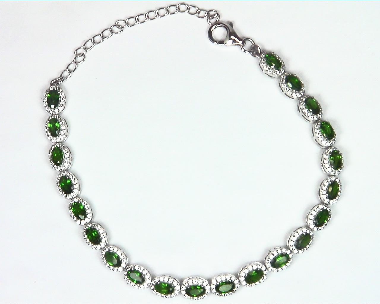 Chrome Diopside Sterling Silver Bracelet BR,793