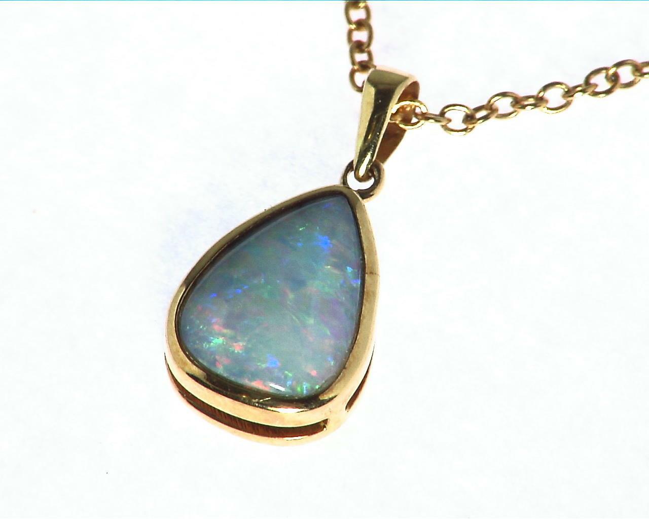 Black Opal Gold Pendant 6