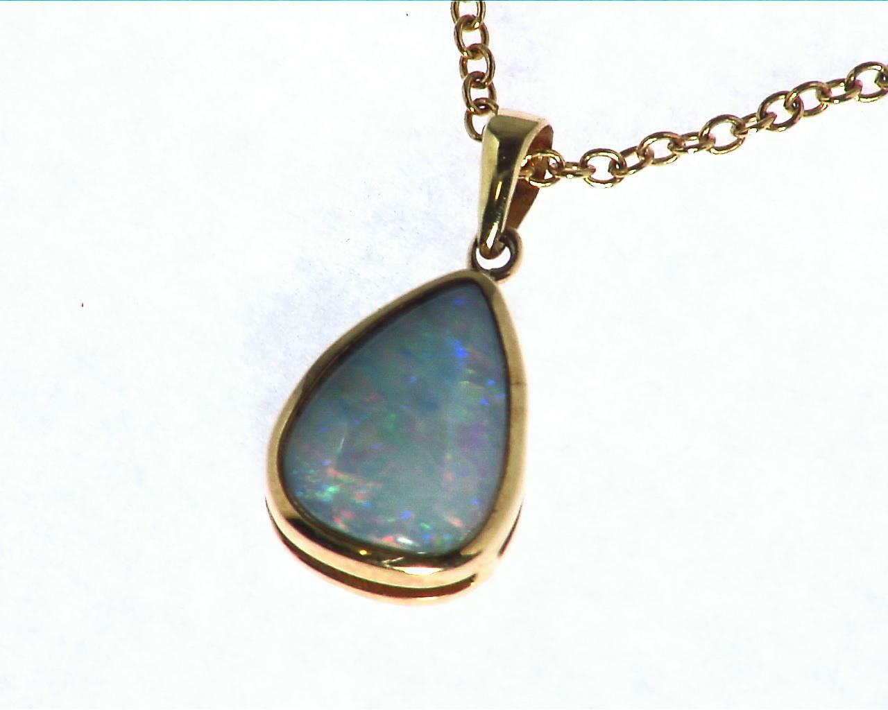 Black Opal Gold Pendant 3