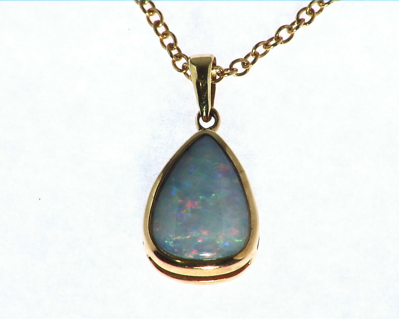 Black Opal Gold Pendant
