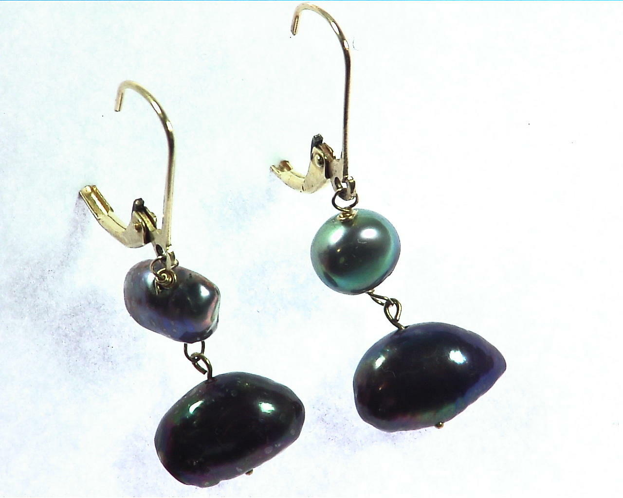 Black Pearl Earrings 4