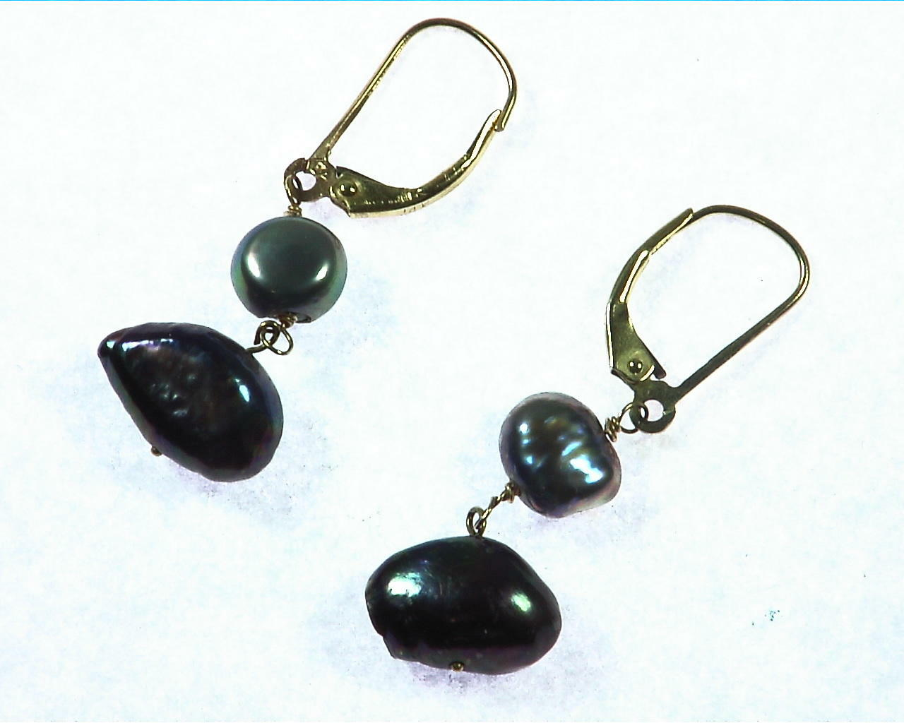 Black Pearl Earrings 2