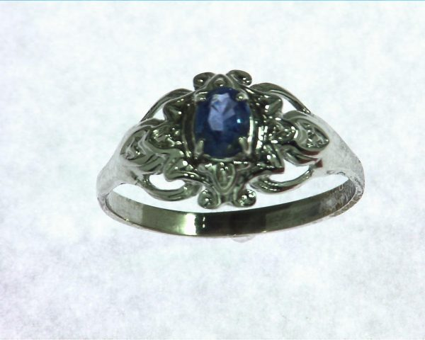 Blue Sapphire Sterling Silver Ring, RSS882