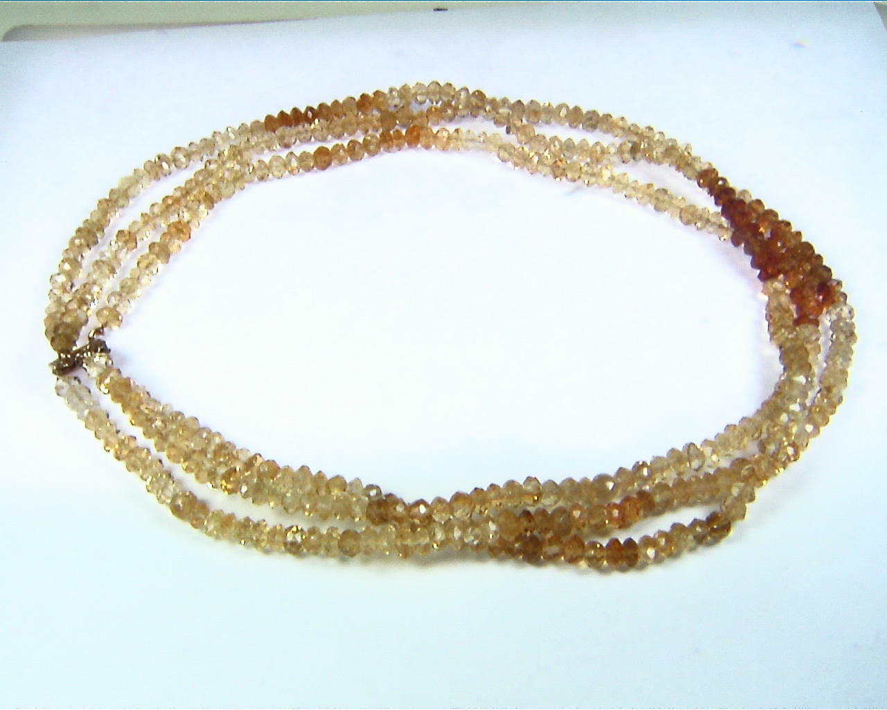 Citrine 3 Strand Necklace