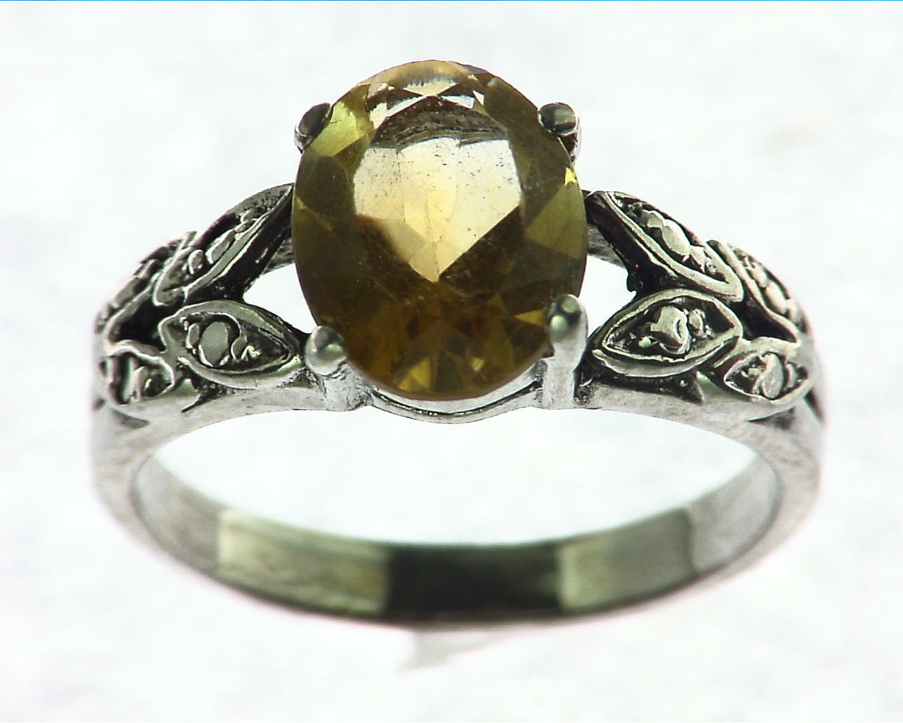 Citrine Gemstone Sterling Silver Ring
