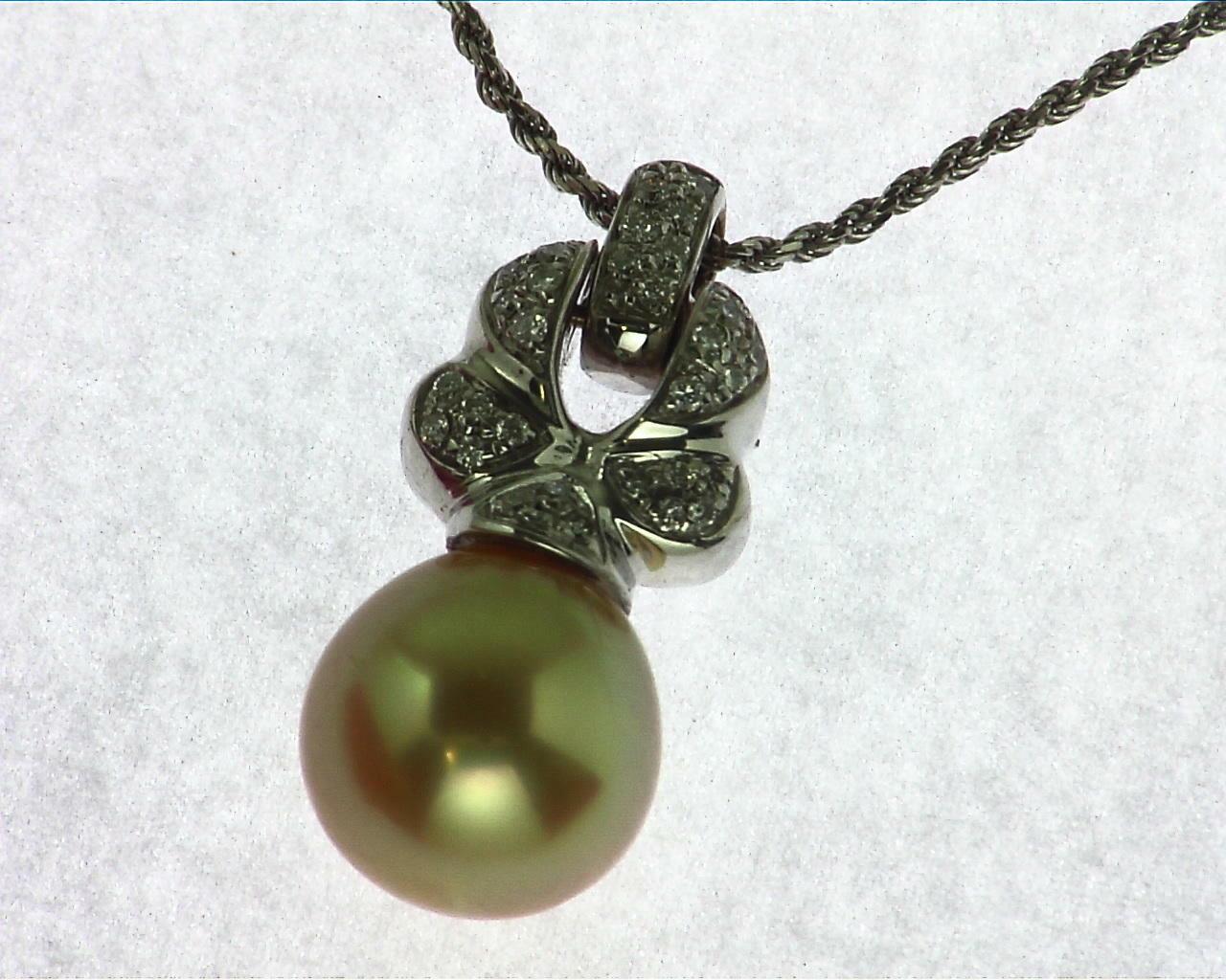 Golden Pearl 14 kt Gold Pendent NFG,970
