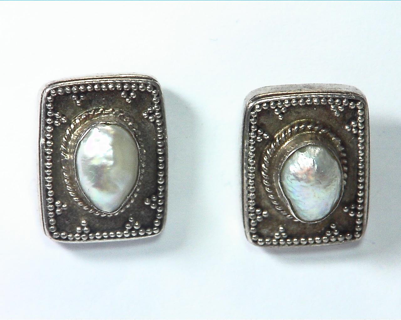 Pearl Silver Design Earrings,EPS,800