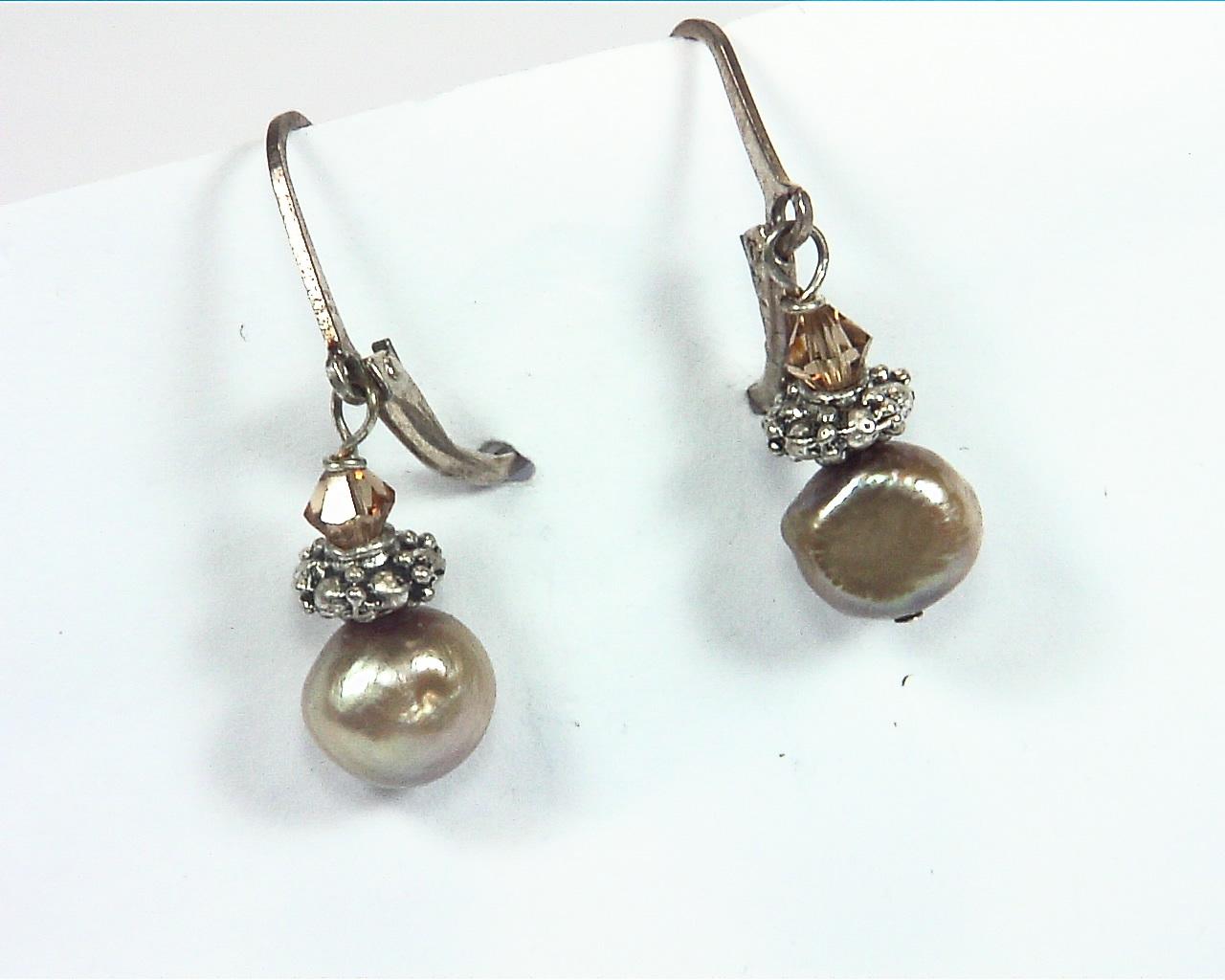 Pearl And Swarovski Earrings,EPS,805