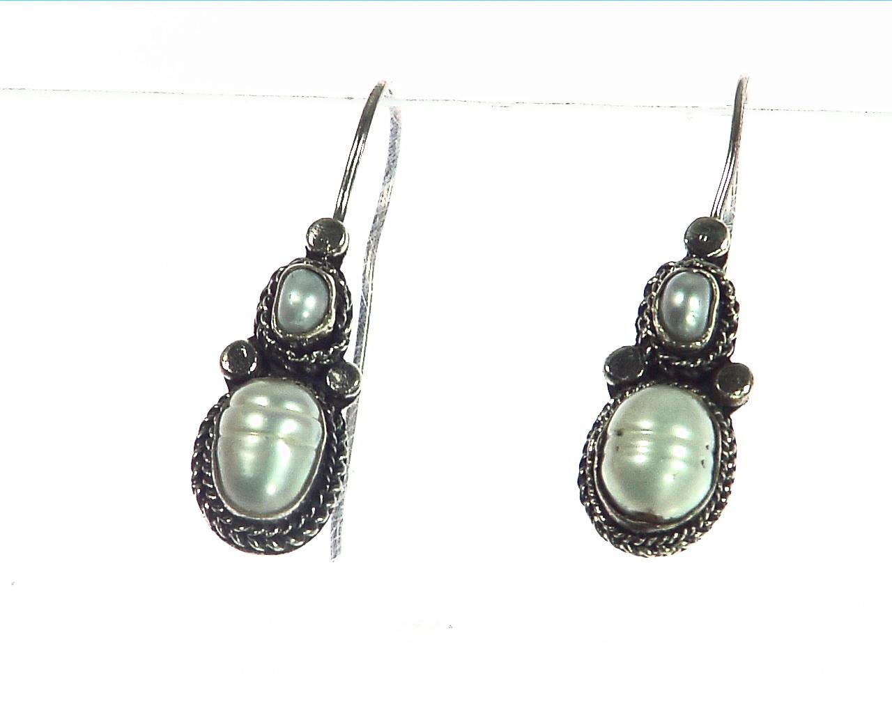 Fresh Water genuine Pearl Sterling Silver earrings ESS,800 3