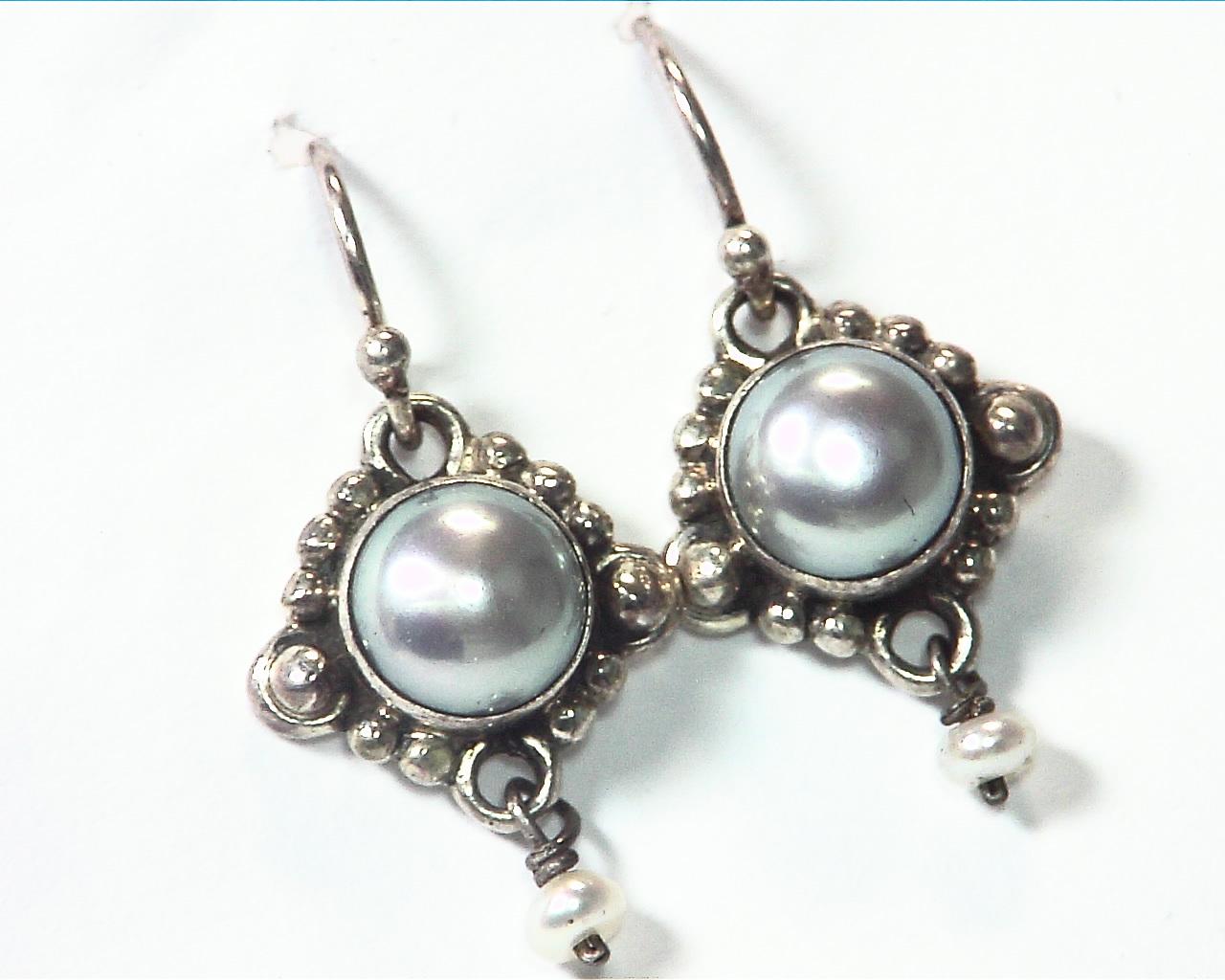 Pearl Silver Design Earrings,EPS,807