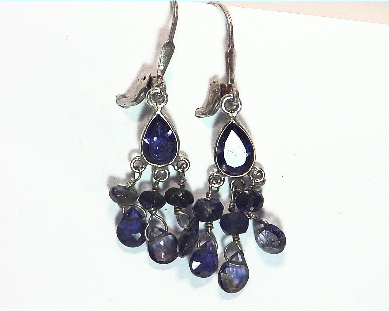Iolite angling Sterling silver earrings ESS849