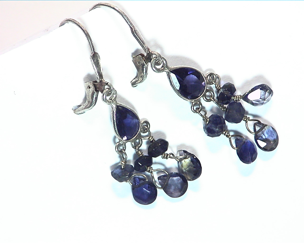 Iolite angling Sterling silver earrings ESS849 3