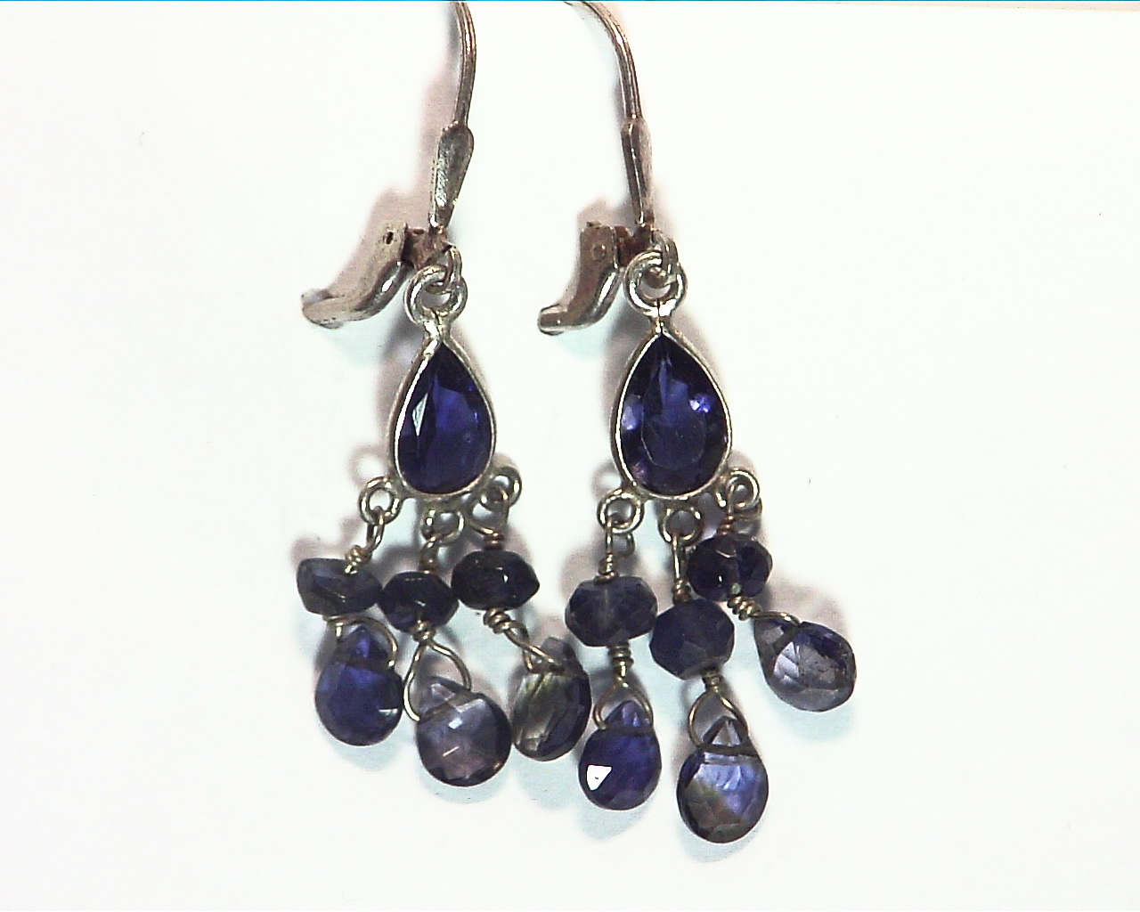Iolite angling Sterling silver earrings ESS849 4
