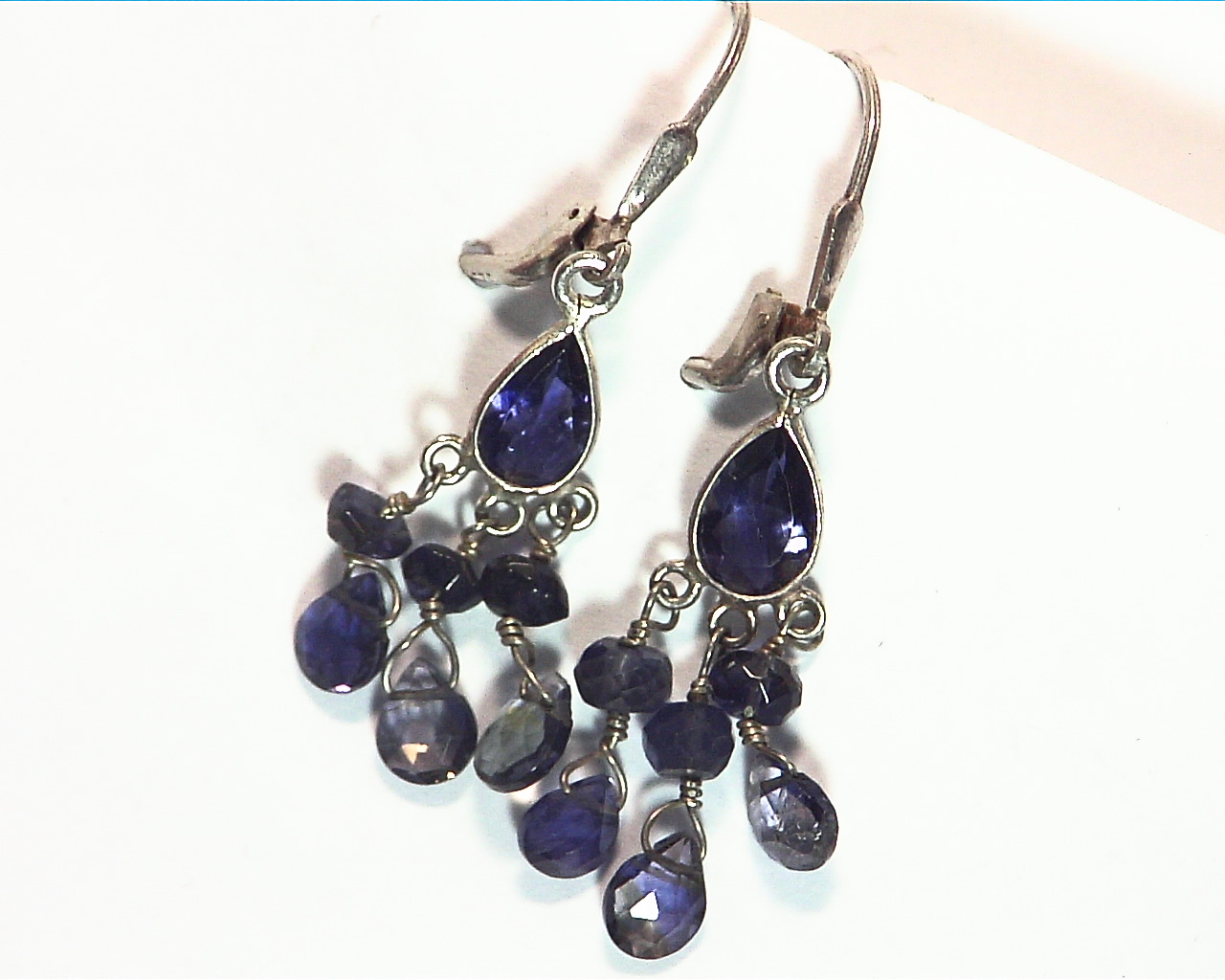 Iolite angling Sterling silver earrings ESS849 5