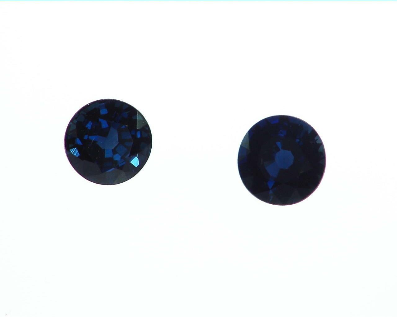 Blue Sapphire Round Natural Genuine Gemstones GPG,196