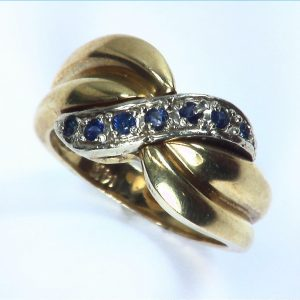 Blue Ceylon sapphires Engagement Ring