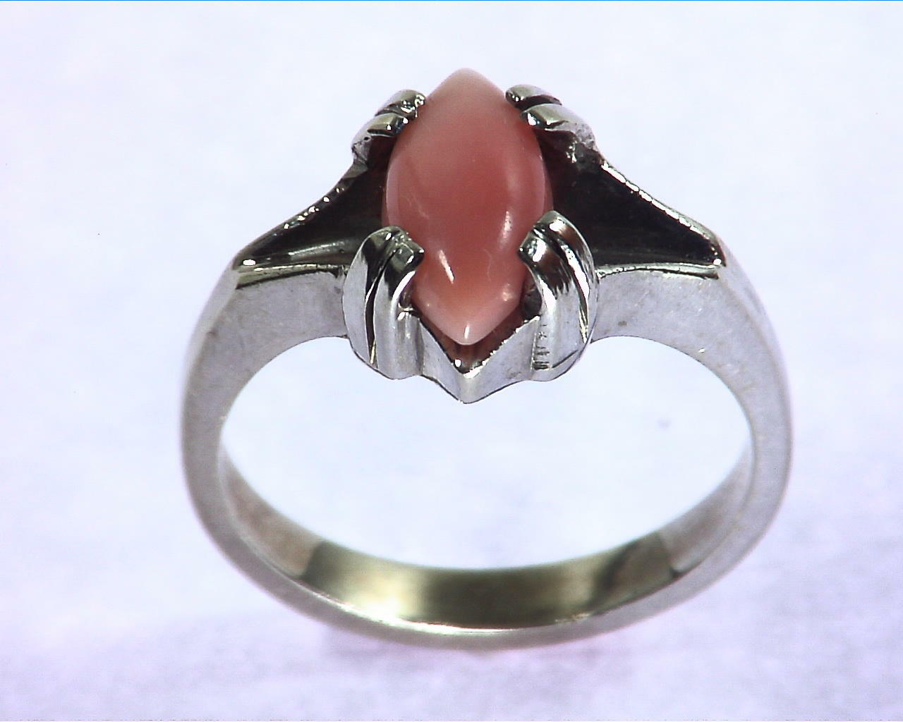 Rose Coral Gold Ring,RFK209 2