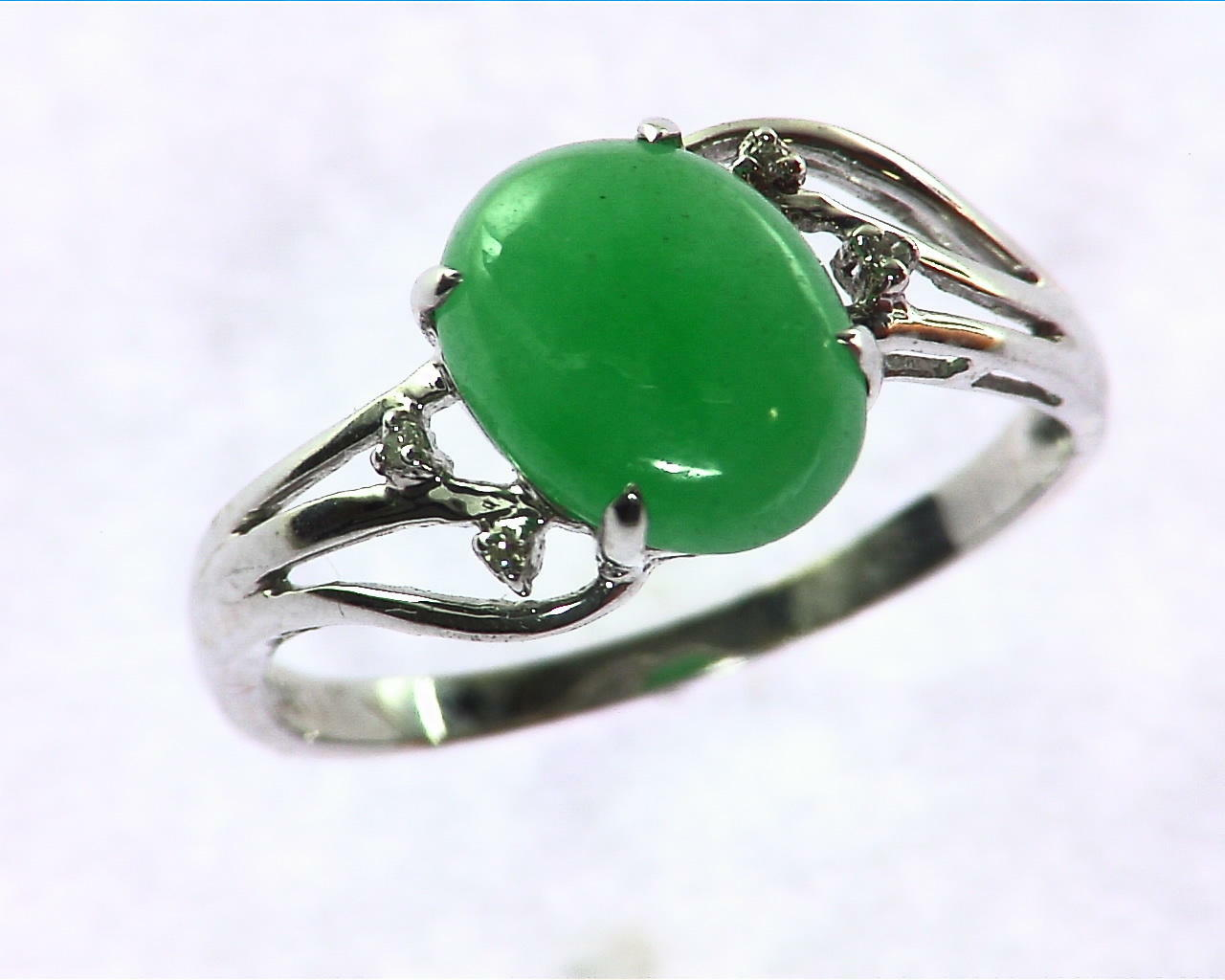 Green Quarts Gold Lady,s Ring RFK207