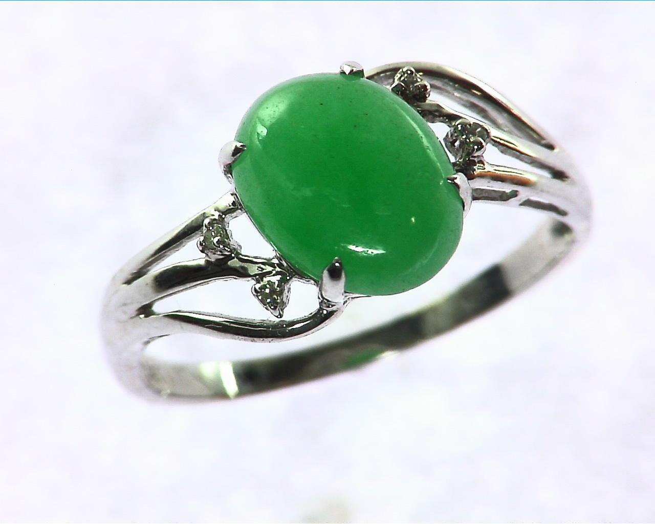 Green Quarts Gold Lady,s Ring RFK207 3
