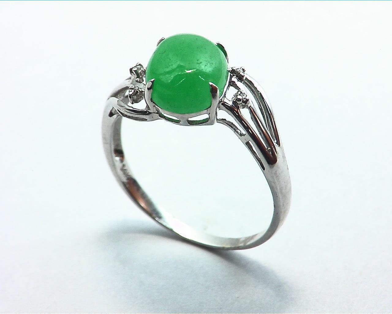 Green Quarts Gold Lady,s Ring RFK207 4