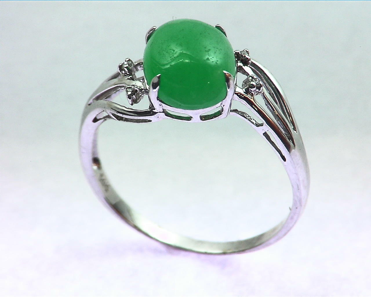 Green Quarts Gold Lady,s Ring RFK207 5