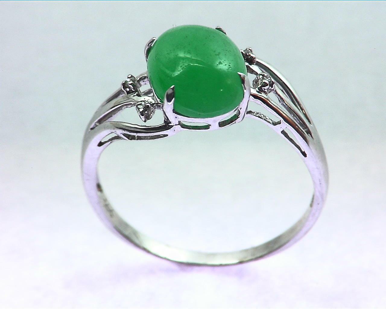 Green Quarts Gold Lady,s Ring RFK207 6