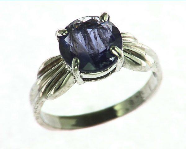 Iolite Gemstone Sterling Silver Ring