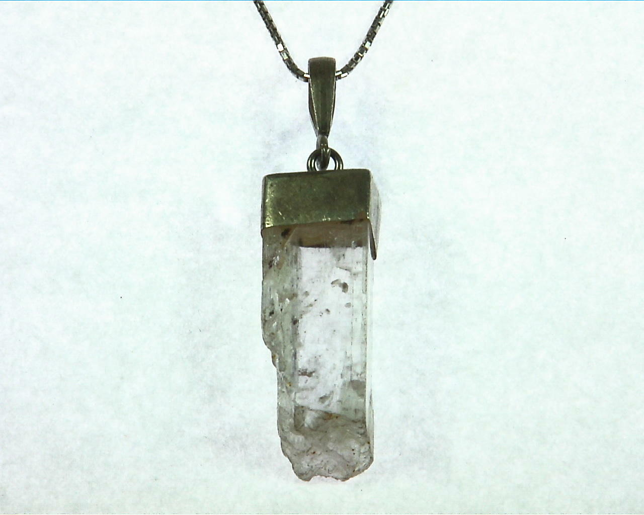 Kunzite natural genuine Crystal Pendant in Silver PSS,1016 1