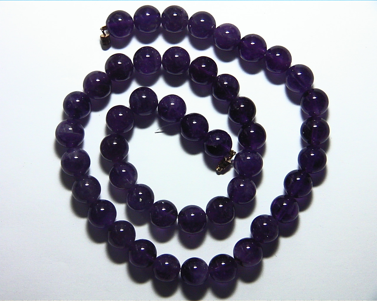 Amethyst Natural Genuine Bead Necklace NBD,884