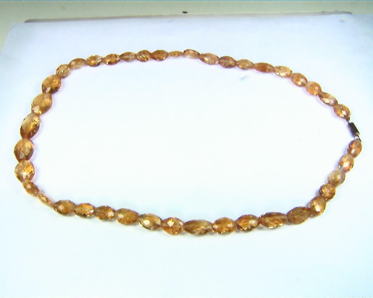 Citrine Natural genuine Gemstone Bead Necklace