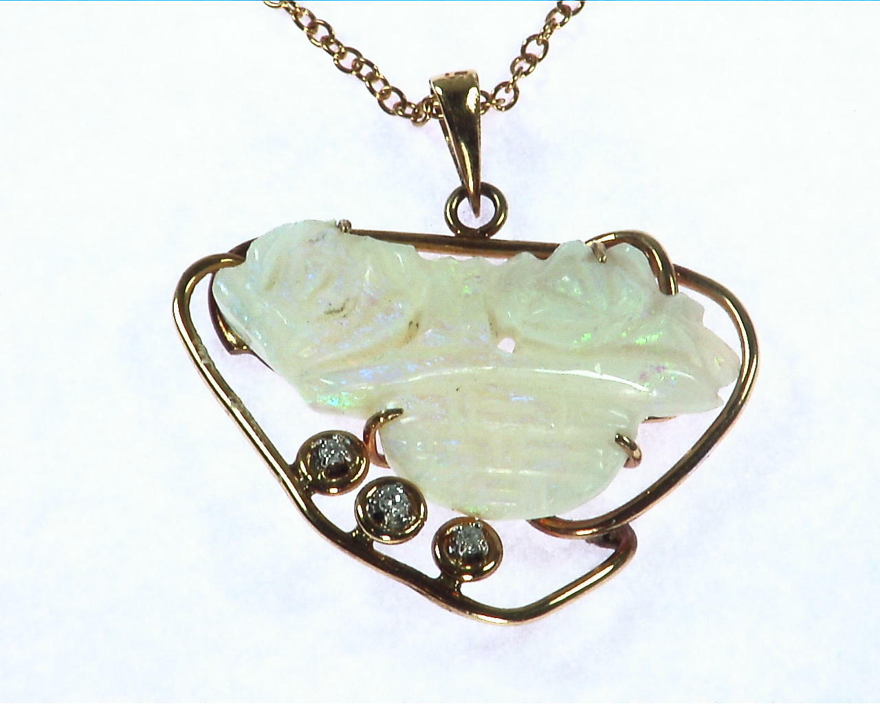Opal Carved Pendent