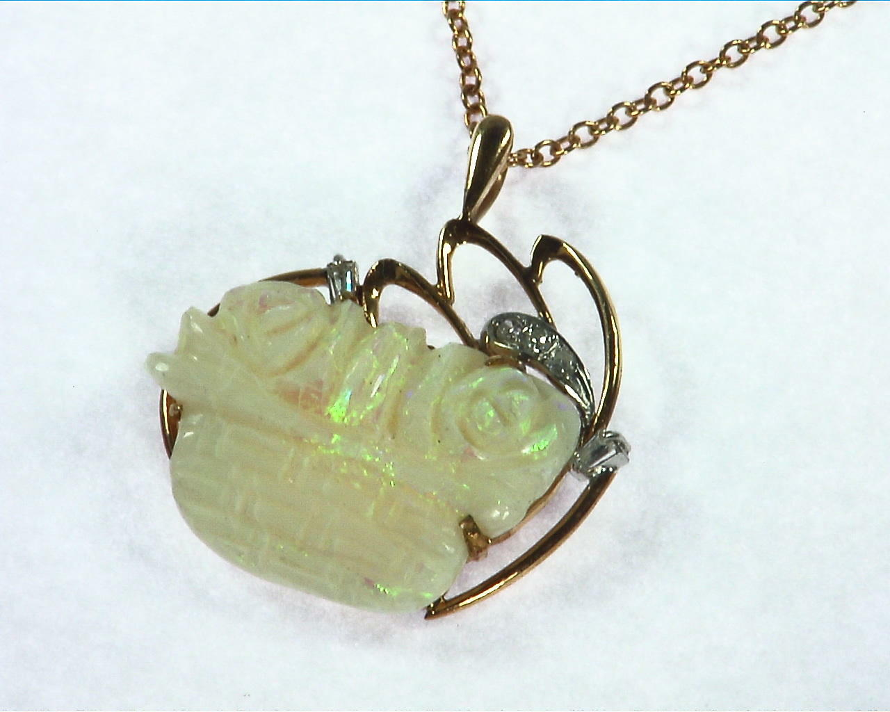 Australian Carved Opal Pendent 6