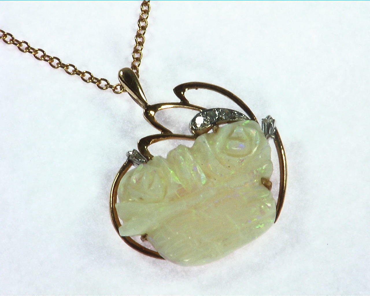 Australian Carved Opal Pendent 5