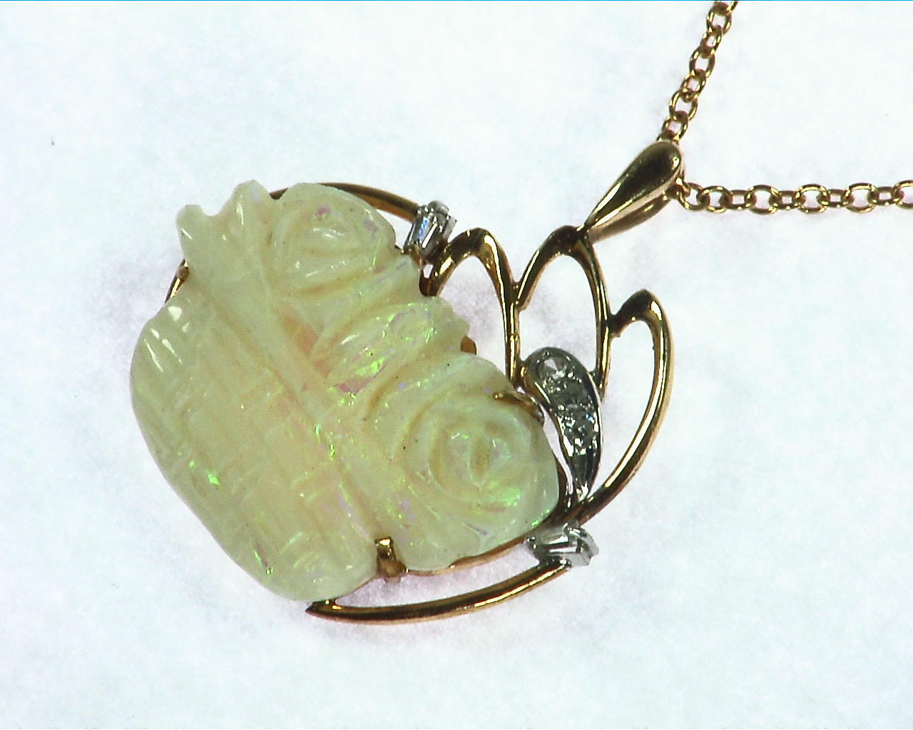 Australian Carved Opal Pendent 3