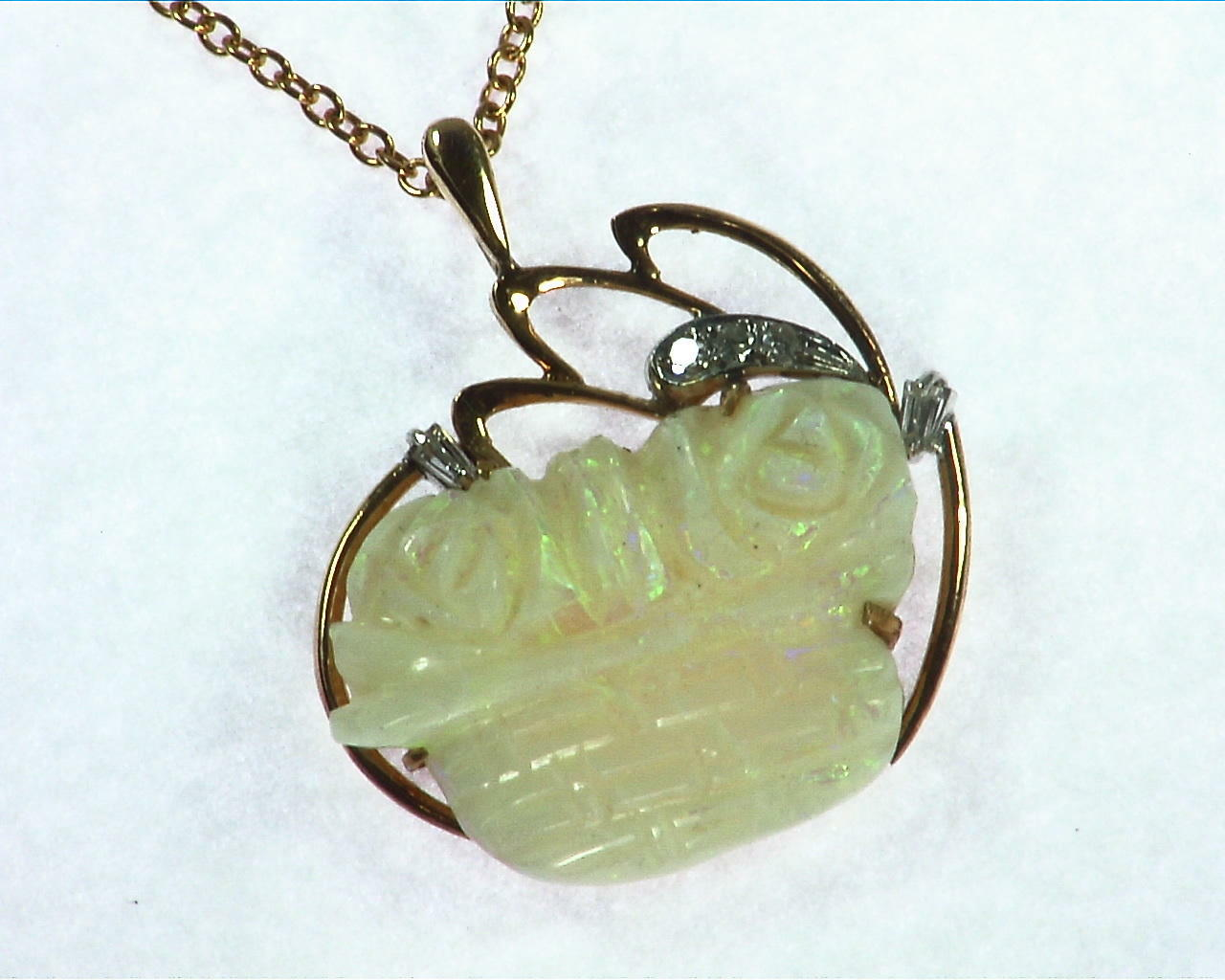 Australian Carved Opal Pendent