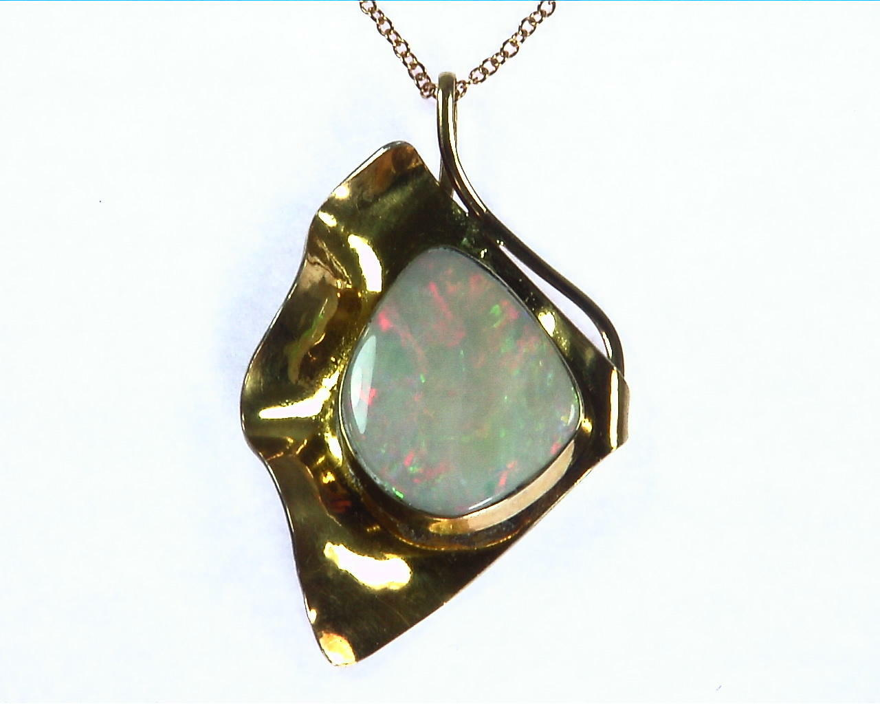 Opal Gold Pendent