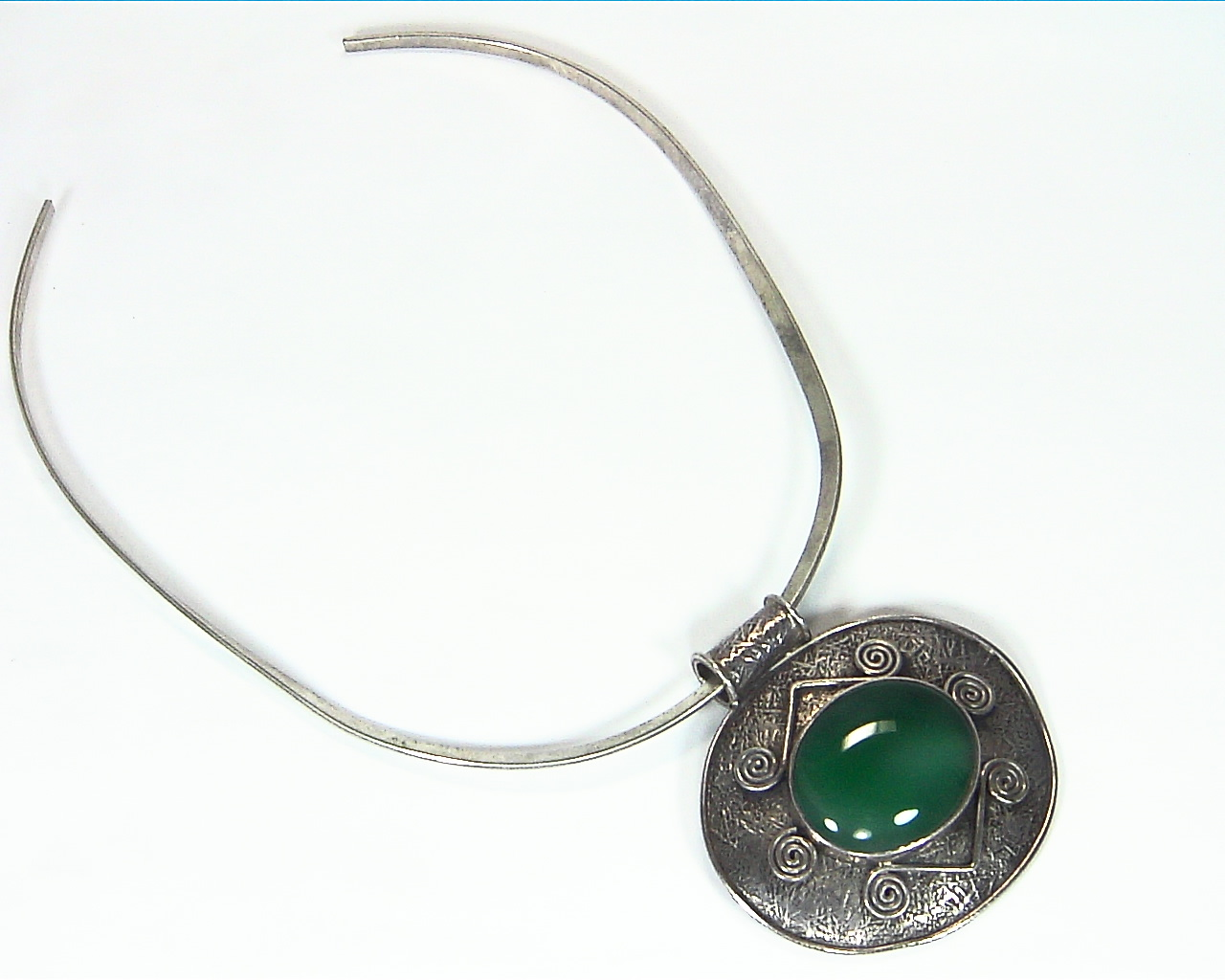 Green Onyx Natural Genuine Gemstone Sterling Silver Pendent PSS,1199 2