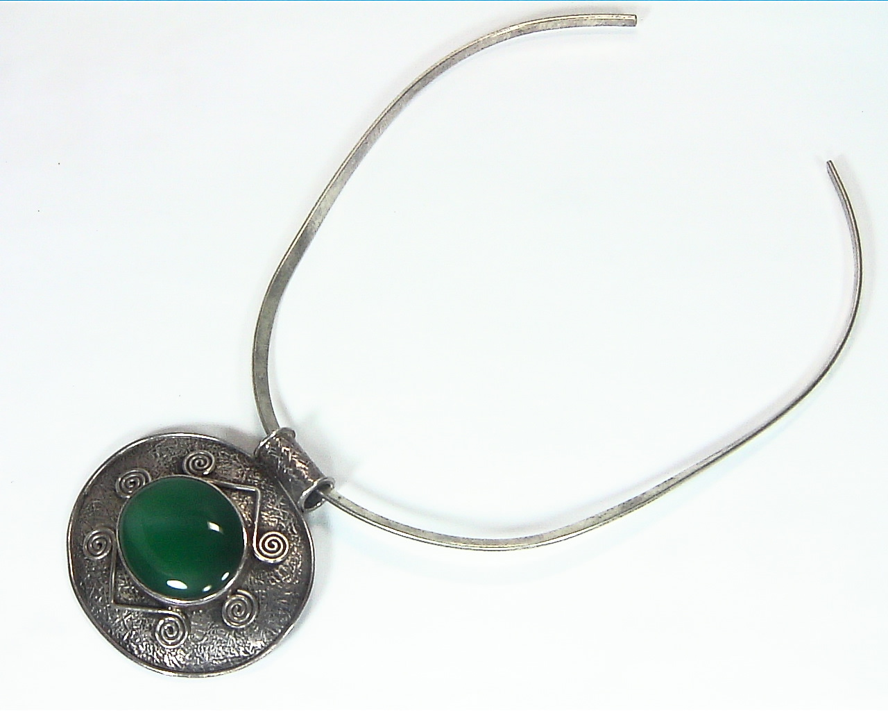 Green Onyx Natural Genuine Gemstone Sterling Silver Pendent PSS,1199 3