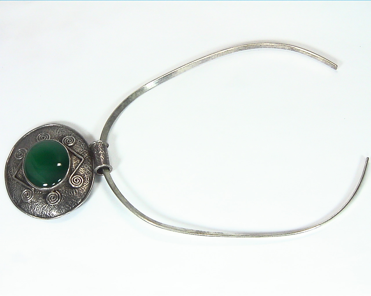 Green Onyx Natural Genuine Gemstone Sterling Silver Pendent PSS,1199 4