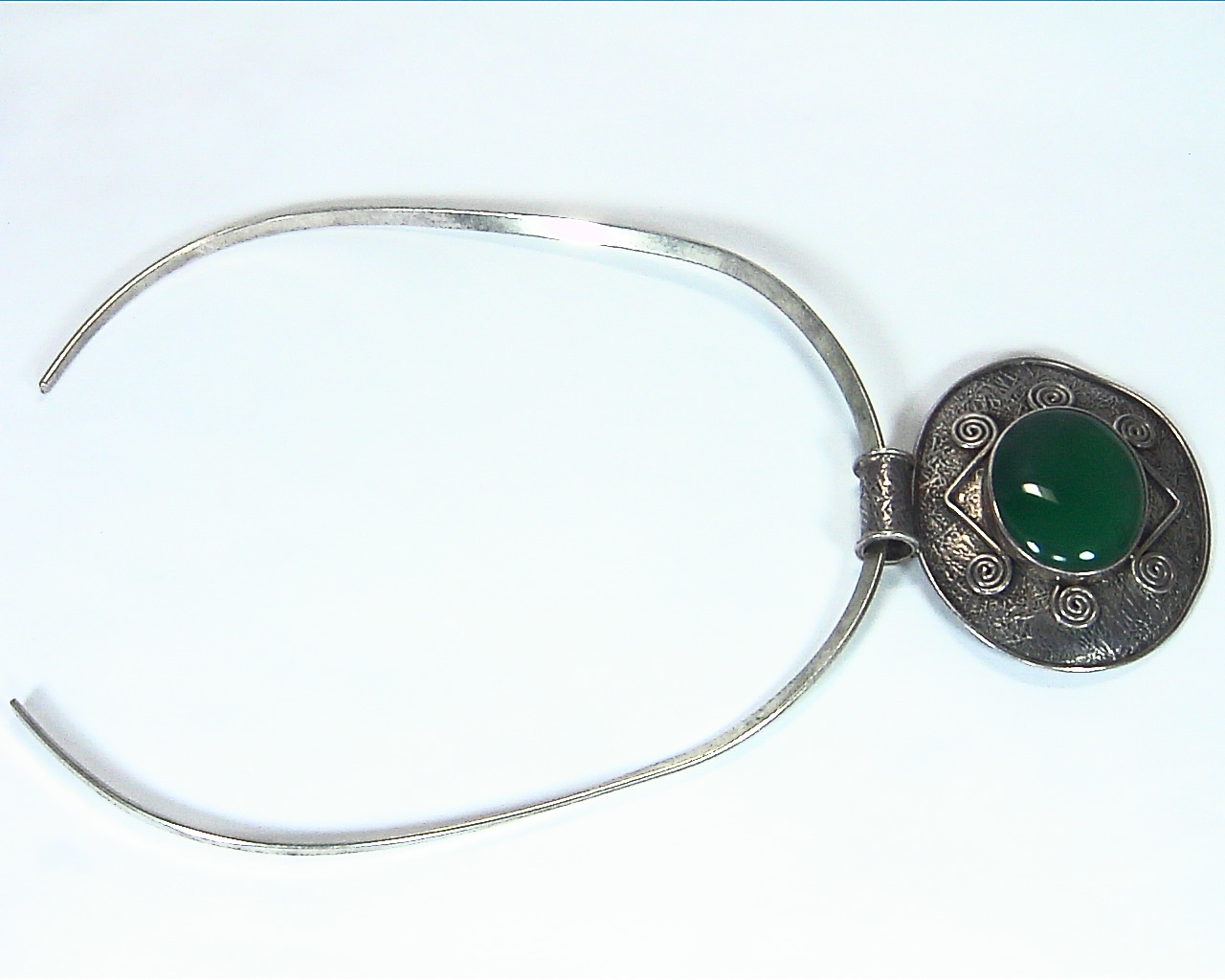Green Onyx Natural Genuine Gemstone Sterling Silver Pendent PSS,1199 5