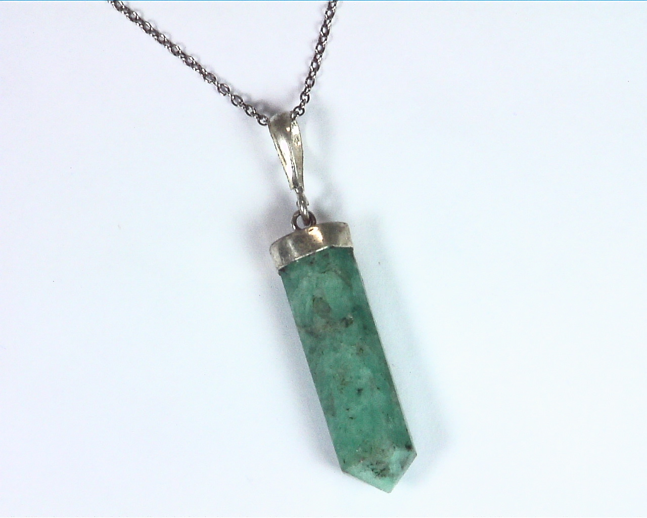 Amazonite Crystal Pendent PSS,935