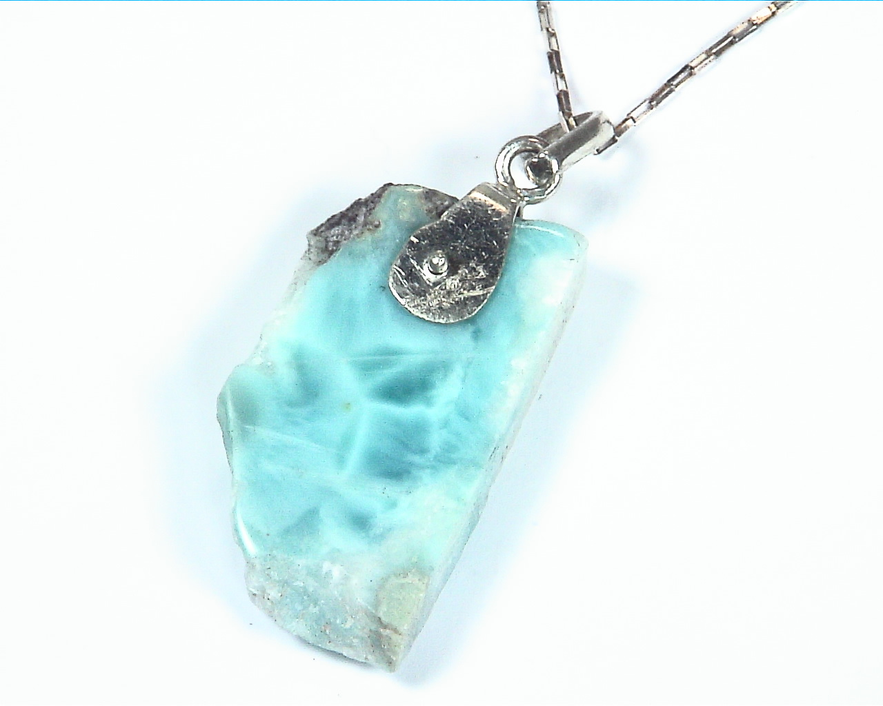 Larimar Natural Genuine Gemstone sterling Silver Pendent PSS,950 2