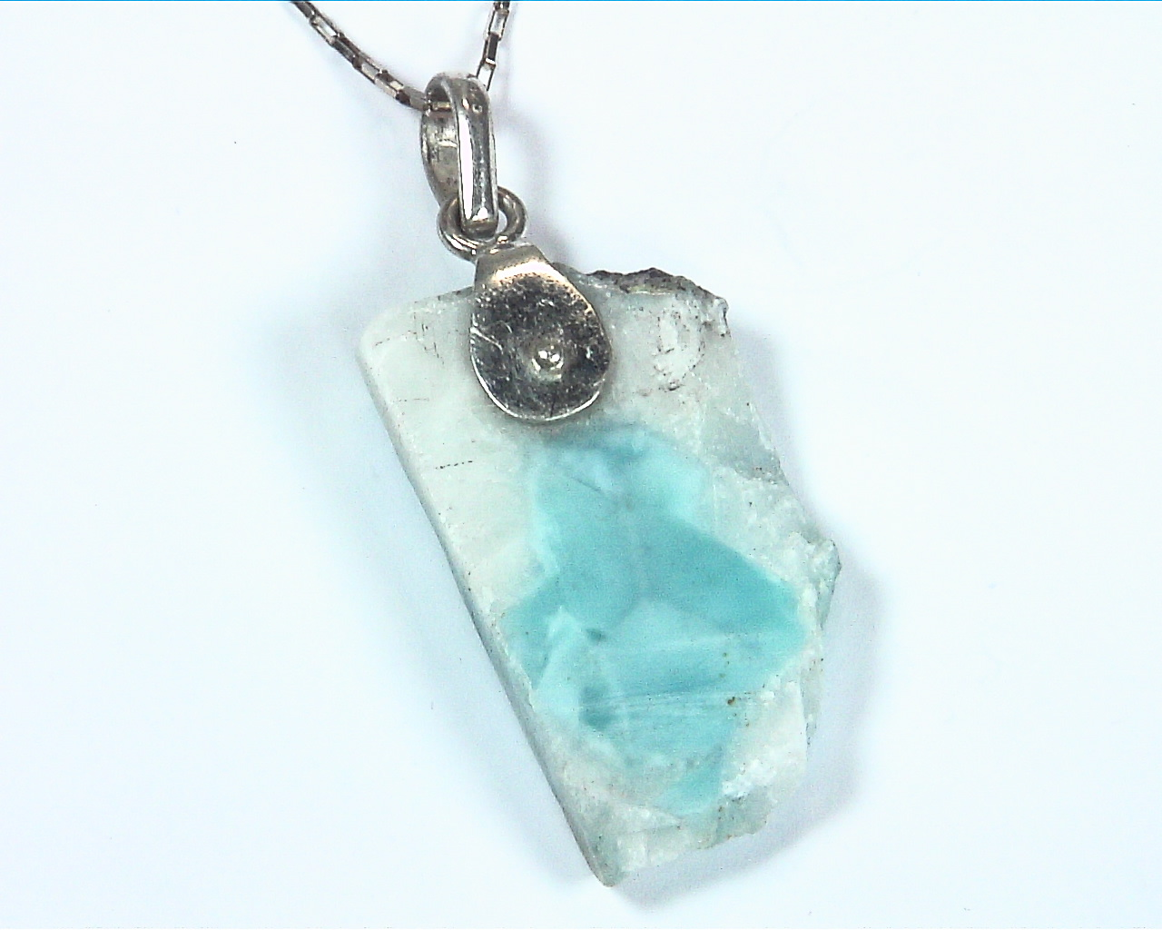 Larimar Natural Genuine Gemstone sterling Silver Pendent PSS,950 4