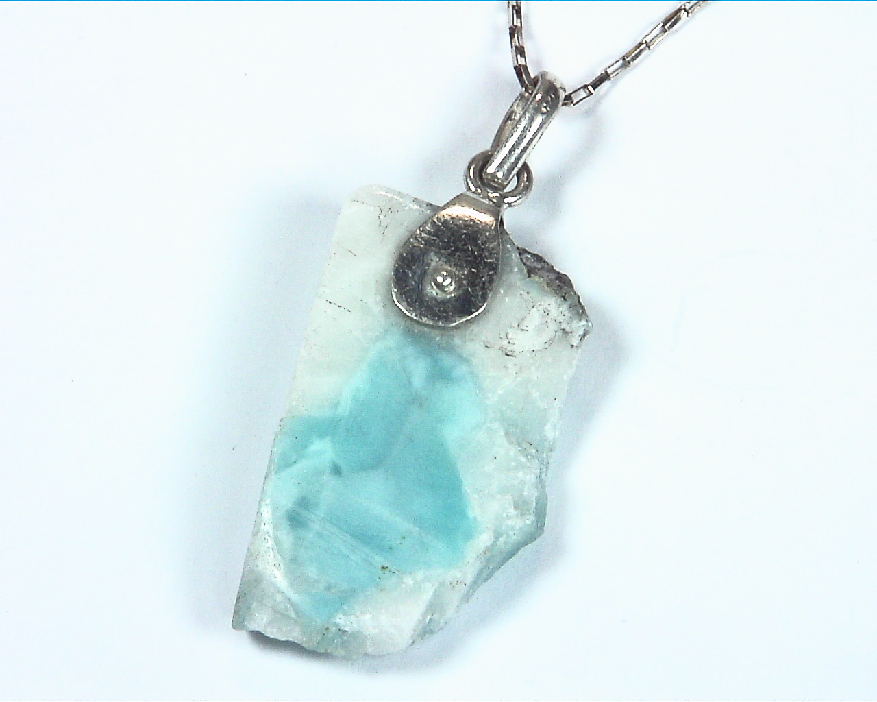 Larimar Natural Genuine Gemstone sterling Silver Pendent PSS,950 5