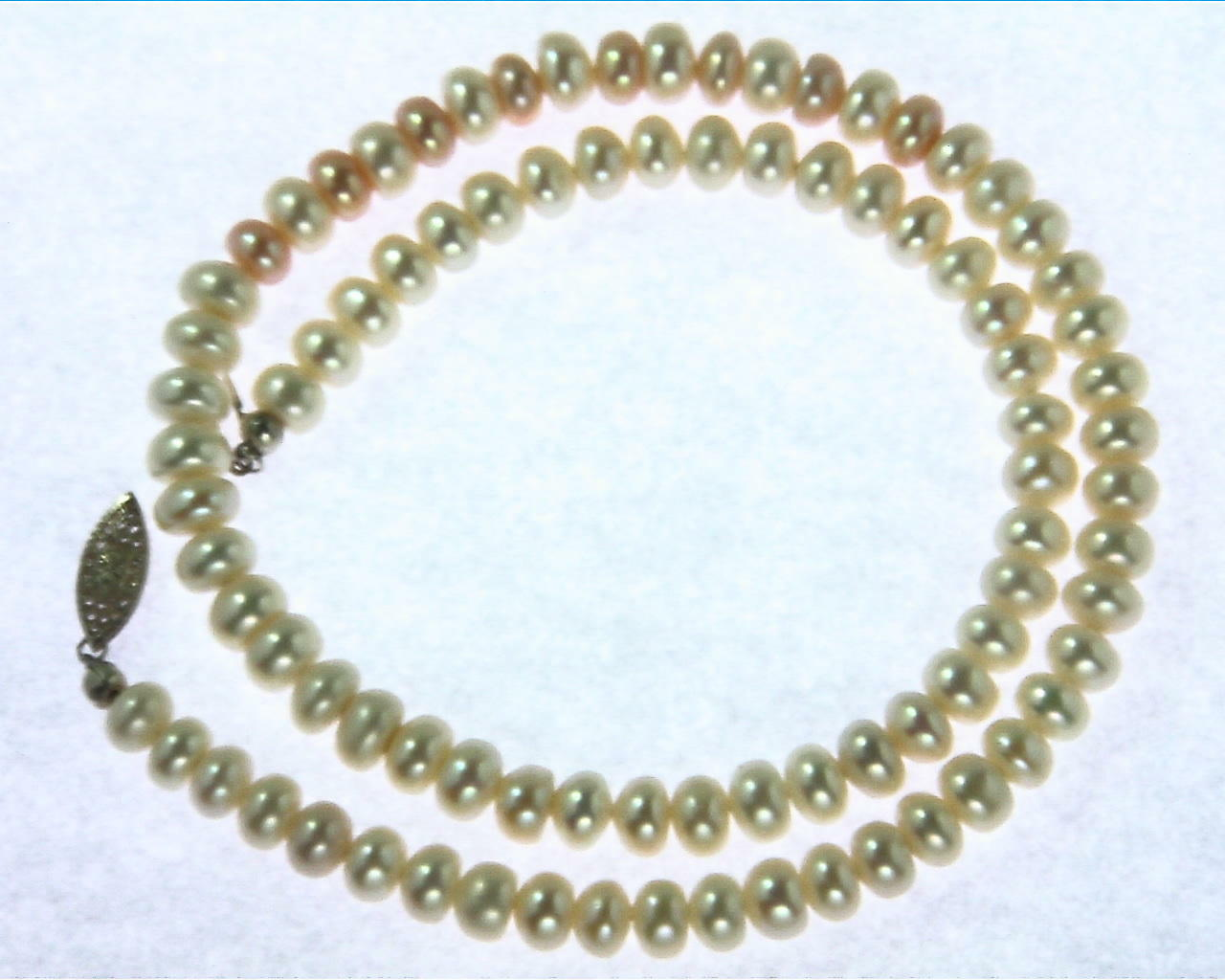 Pearl Bead 925 Silver Necklace