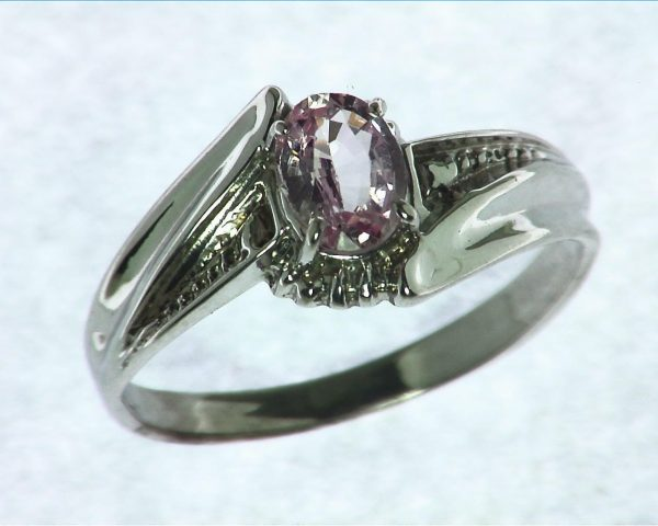 Pink Sapphire Sterling Silver Ring